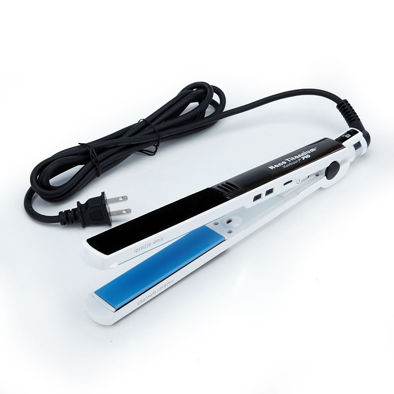 Professional Nano Titanium Hair Straightener White