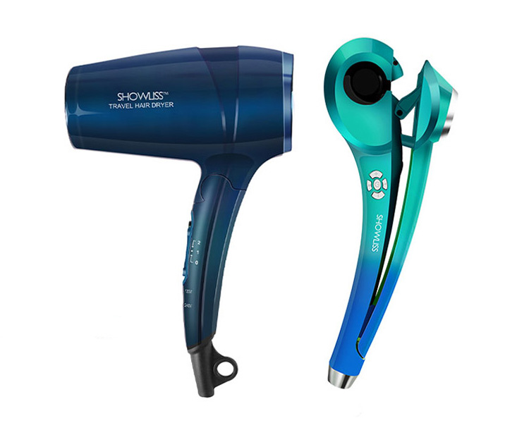 Showliss Pro Bright Blue Deluxe Gift Set